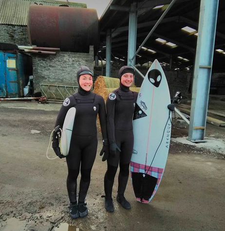 Ladies 6/4mm hooded winter cold water wetsuits